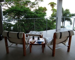 Verandah chairs with an expansive Coral Sea view